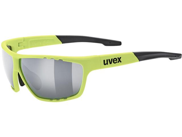 UVEX Sportstyle 706 Lunettes de sport, neon yellow mat/silver